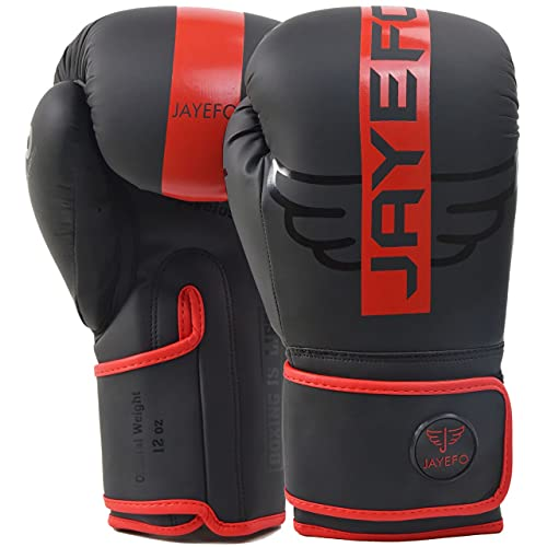 R-6 Boxing Gloves for Men & Women Sparring Heavy Punching Bag MMA Muay Thai Kickboxing Mitts (Red, 14 OZ)