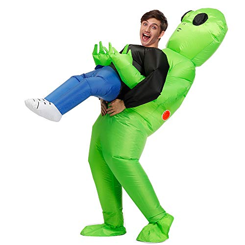 Decalare Inflatable Alien Costume For Adults,Alien Funny Blow Up Costumes,Inflatable Halloween Costumes For Men/Women