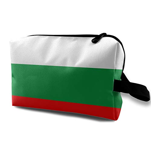 Denim09 Cosmetic Bags Bulgarian Flag Cute Multifunction Sewing Kit Medicine Makeup Storage Bag for Travel Camping Gym
