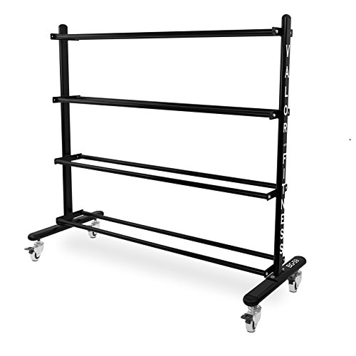 Valor Fitness BG-59 Rolling Rack for Exercise Balls with 4-Tier Shelf