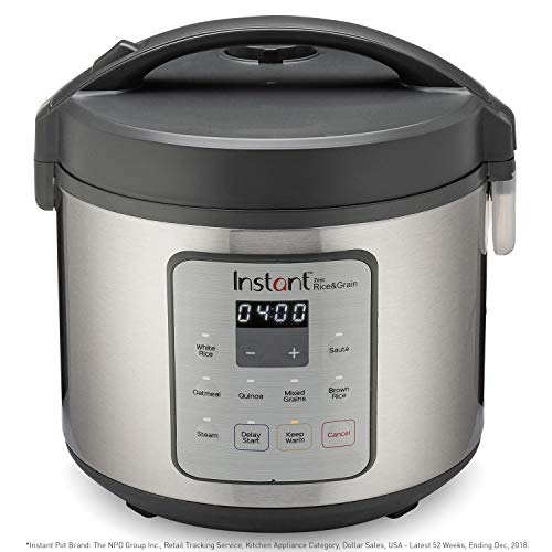 Instant Zest Rice Cooker, Grain Maker, and Steamer, 20 Cups, Cooks White Rice, Brown Rice, Quinoa, and Oatmeal