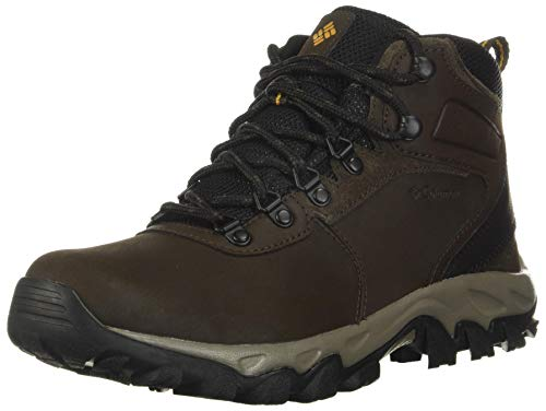 Columbia mens Newton Ridge Plus Ii Waterproof Hiking Boot, Cordovan/Squash, 10 US