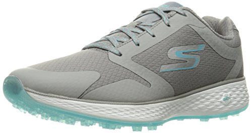Skechers Performance Women's Go Golf Birdie Golf Shoe,Blue/Charcoal Mesh,9.5 M US