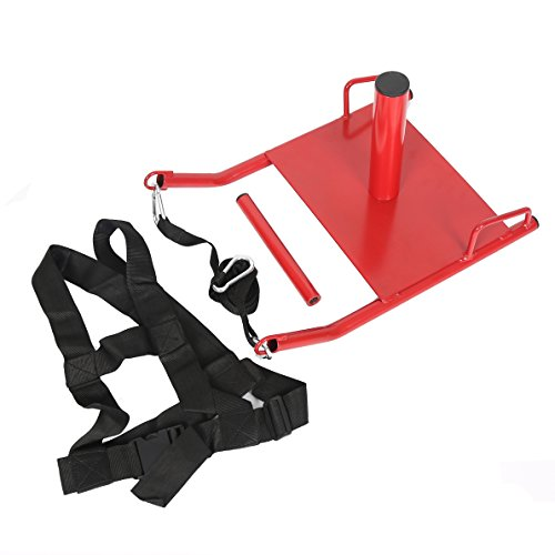 ECOTRIC Training Sled Padded Harness Trading Power Running Speed Sled Weighted Drag Sport Power Sled for Athletic Exercise and Speed Improvement