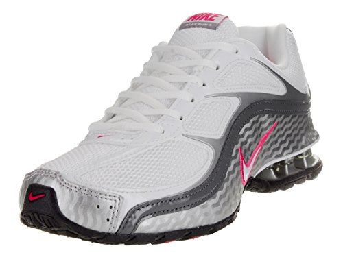 NIKE WMNS Reax Run 5 Womens 407987-116 Size 7.5, White/Metallic Silver/Dark Grey