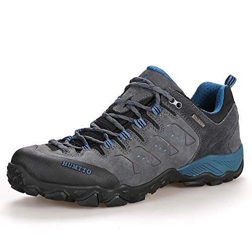 HUMTTO Hiking Shoes for Men Slip-Resistant Climbing Shoes Lightweight Walking Trekking Breathable Sneaker Grey