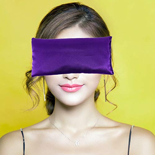 Catnap Wraps Lavender Eye Pillow - Scented Silk Yoga Eye Bag for Sleeping, Relaxation - Soothing Aromatherapy Gifts for Women, Christmas, Coworkers (BlackBerry Wine)