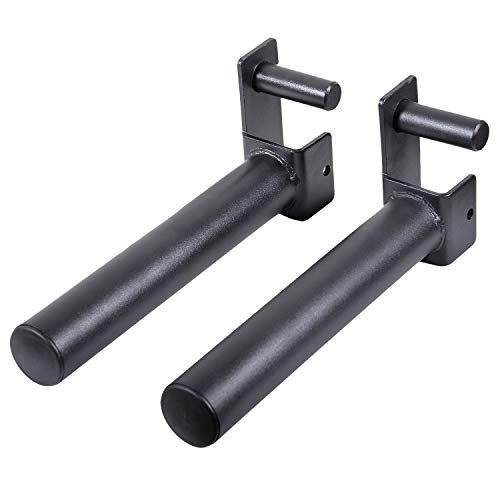 Ollieroo Set of 2 Weight Plates Holder Attachment, Power Rack Accessories, Weight Plate Storage – Designed to fit 2' x 2' Tube Power Racks with 1' Hole