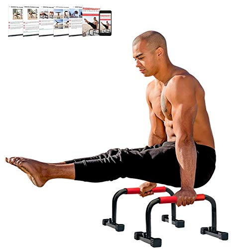 Rubberbanditz Parallettes Bars for Push Ups & Dip | Lightweight, Heavy Duty Non-Slip Parallel Bars Stand for Handstands, Calisthenics, Crossfit, Gymnastics, & Bodyweight Training Workouts