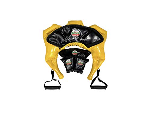 Bulgarian Bag Suples Strong Fit Model (Yellow, XSmall, 11-17 lb, Synthetic Leather) - The Original Creator - Crossfit, Sandbag, Training Bag, Weighted Bag, Weight Bag.