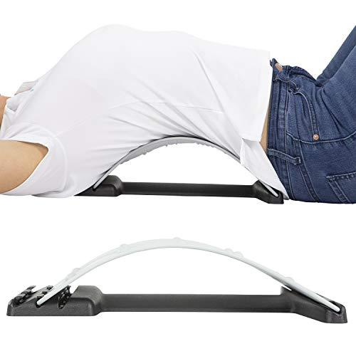 Vive Back Stretcher - 4 Posture Corrector Positions for Upper and Lower Lumbar Pain Relief, Herniated Disc, Spinal Stenosis - Orthopedic Low Spine Straightener Extension for Scoliosis - Men, Women
