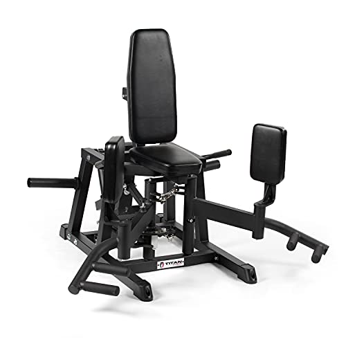 Titan Fitness Plate-Loaded Hip Abductor and Adductor Exercise Machine, Combo Inner/Outer Thigh Stabilizer Machine