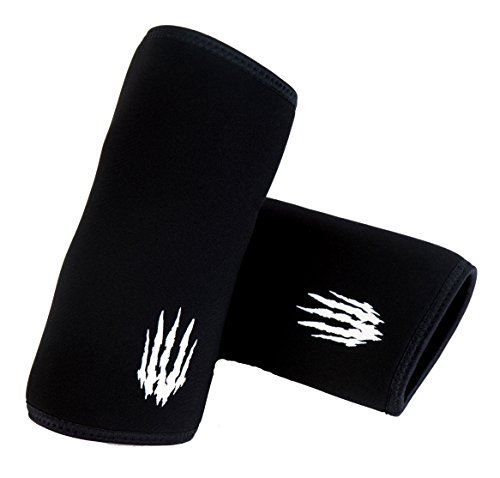 Bear KompleX Elbow Sleeves, 1 Pair for Instant Support and Compression for at-Home Workouts, Reduces Joint Pain, Stimulates Muscles for Weightlifting, Powerlifting, Bench Press, and Crossfit
