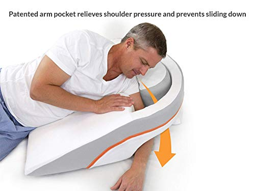 MedCline Advanced Positioning, No Slide Anti-Acid Reflux/Gerd Wedge Pillow for Benefits of Side Sleeping with Incline, Large