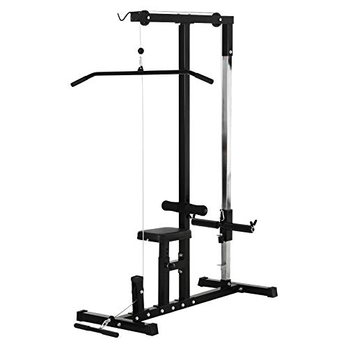 Soozier Exercise Pulldown Weight Machine with Multiple Adjustable Cable Positions for Strengthening Many Muscle Groups Home Gym