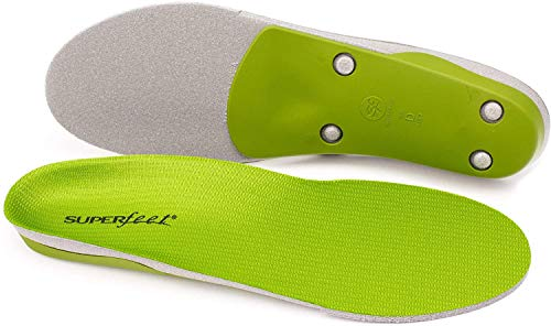 Superfeet Unisex-Adult Green Professional-Grade High Arch Orthotic Shoe Inserts for Maximum Support Insole, 6.5-8