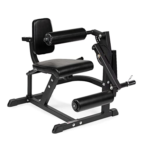 Titan Fitness Adjustable Plate Loaded Leg Extension and Curl Machine, Rated 220 LB, Rotary Specialty Machine Develops Quads and Hamstrings