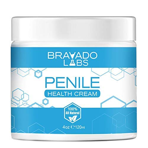 Penile Health Cream - Bravado Labs - 100% Natural Skin Care - Relieves Chafing, Itching, Redness, Dryness, Tenderness, Cracking (4oz)