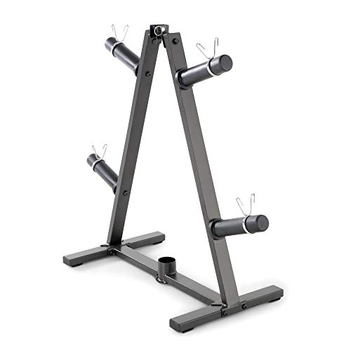 Marcy Home Gym A-Frame Organizer for 2-Inch Olympic Weight Plates and Bar, 300 lbs Capacity PT-5740