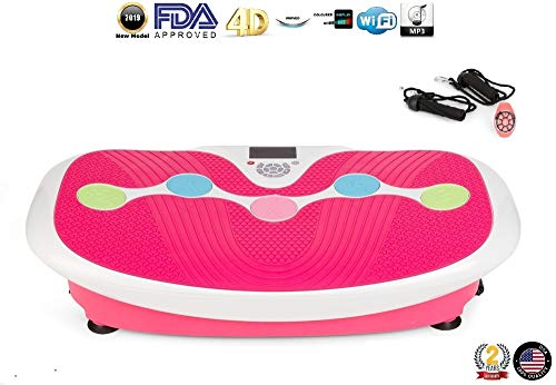 CHRISTMAS -$80 I ZEN SHAPER PLUS vibration plate - Pink (2019 new model) - Fitness oscillating vibration platform – MP3 music – 3 exercise areas (walk-jogging-running) - 2 YEARS Official Warranty