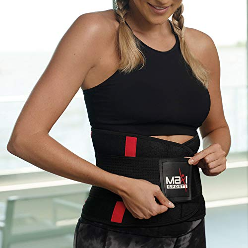 Maxi Climber MaxiSport Waist Trimmer, One Size - Capture Body Heat, Increase Perspiration, and Maximize Your Workouts