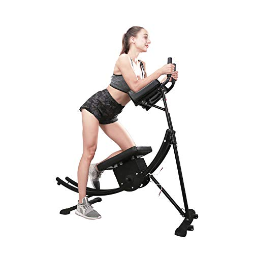 soges Indoor Ab Machine Core Ab Workout Fitness Equipment Vertical Height Adjustable Abdominal Trainer Ab Crunch Coaster for Home Gym Exercise Black YKYN-ASM-B