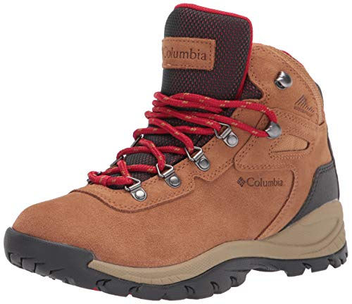 Columbia womens Newton Ridge Plus Waterproof Amped Hiking Boot, Elk/Mountain Red, 8 US