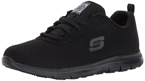 Skechers for Work Women's Ghenter Bronaugh Work and Food Service Shoe 5M, BLACK, 5 M US