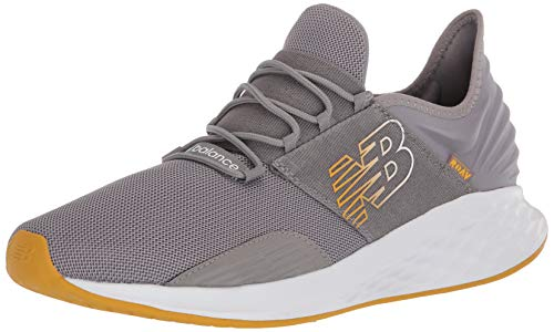 New Balance Men's Fresh Foam Roav V1 Sneaker, Marblehead/Varsity Gold, 10.5 W US