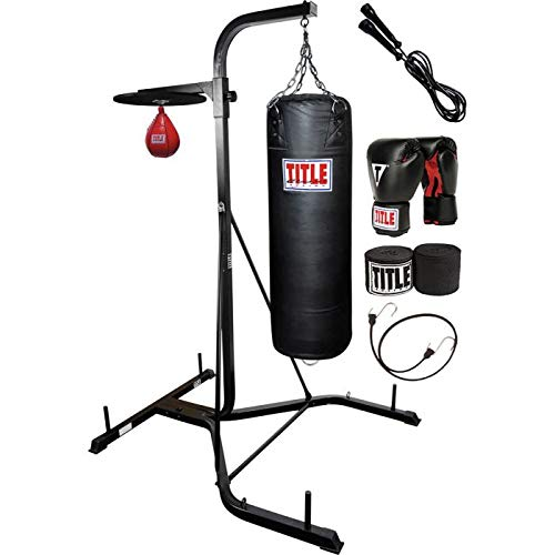 Title Boxing Heavy Bag/Speed Bag Stand with Bags