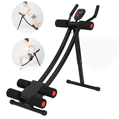 Ab Machine Exercise Equipment, Mosunx Foldable Sit Up Bench Adjustable Workout Bench Fitness Equipment for Home Gym, Abdominal/Hyper Back Extension Bench (Maximum Capacity 331 Pounds, Black - Red)