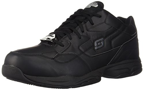 Skechers for Work Men's Felton Shoe, Black, 10 M US