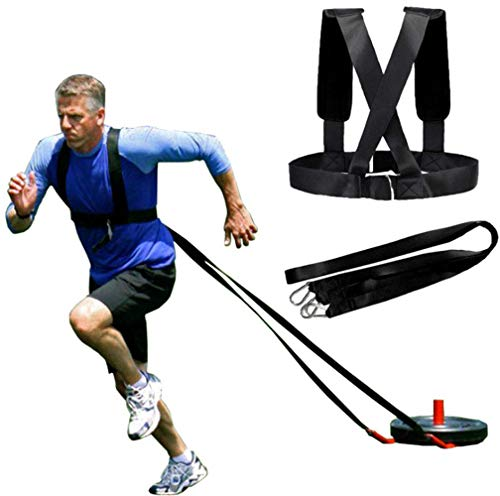 YNXing Sled Harness Workout Resistance and Assistance Trainer Physical Training Resistance Rope Kit Improving Speed, Stamina and Strength
