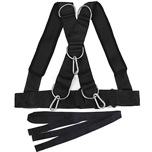 Daxin Sled Harness Workout Resistance and Assistance Trainer Physical Training Resistance Rope Kit Speed Running Shoulder Weight Training Straps Improving Speed Stamina and Strength