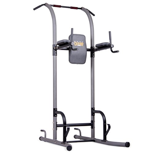 Body Champ VKR1010 Fitness Multi Function Power Tower/Multi Station for Home Office Gym Dip Stands Pull Up Push up VKR, Grey, One Size