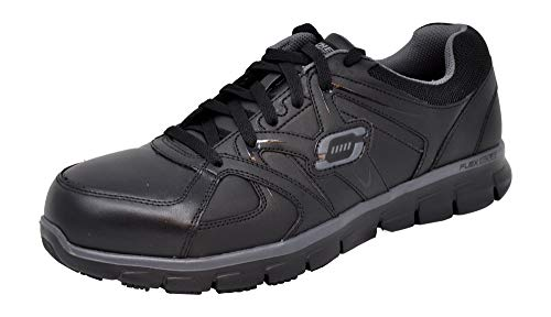 Skechers for Work Men's Synergy Ekron Alloy Toe Work Shoe, Black, 12 M US