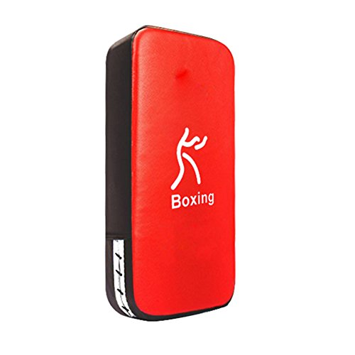 Shellkingdom One Karate Taekwondo Boxing Arm Target Durable Leather Training Punch Soft Shield Pad for Boxing and Punching,Protecting your palm,wrist and Decreasing the shock,15.77.93.9 inches