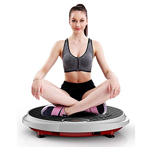 JEI-MEN Vibration Plate Exercise Machine Whole Body Workout Vibration Fitness Platform Vibrating Foot Massager for Home Exercise and Weight Loss, Intelligence Remote Control