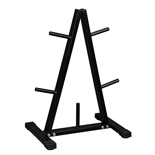 PEXMOR 1 Inch Weight Plate Rack A Frame Weight Plate Tree, Olympic Plate Storage Rack Stand