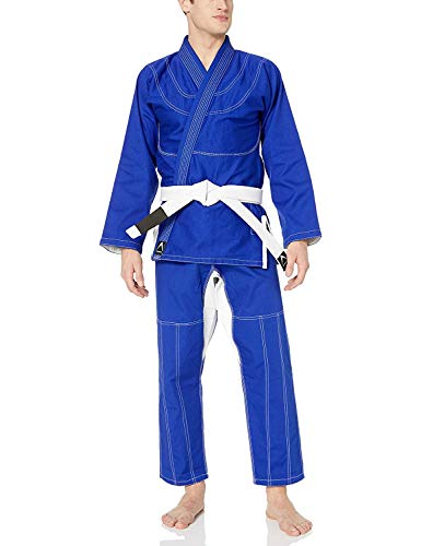 Athllete Jiu Jitsu GI Suitable for Jiu Jitsu/BJJ/Jiujitsu/Judo/Brazilian BJJ, with Preshrunk Fabric for Men & Kids (A0, Blue)