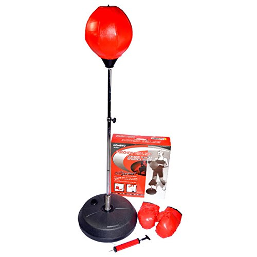 Hongwu Free Standing Height Adjustable Punching Speed Ball Bag with Boxing Gloves