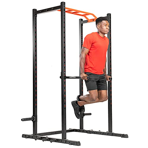 Sunny Health & Fitness Dip Bar Attachment for Power Racks and Cages - SF-XFA002