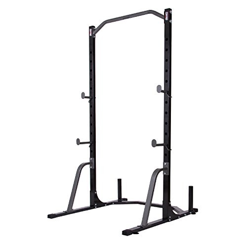 Body Champ PBC530 Power Rack System with Olympic Weight Plate Storage