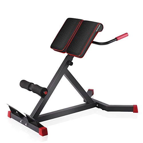 Sportsroyals Adjustable Roman Chair Back Hyperextension Bench for Strengthening Abs and Lower Back