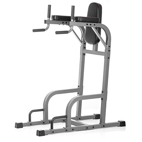 XMark Commercial Vertical Knee Raise with Dip Station and Push Up Station, Multi Functional VKR, Core Workout XM-4437.2