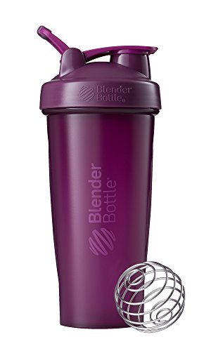 BlenderBottle Classic Shaker Bottle Perfect for Protein Shakes and Pre Workout, 28-Ounce, Plum