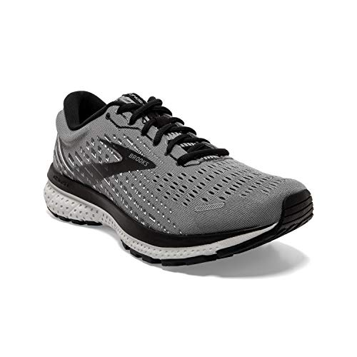 Brooks Men's Ghost 13, Primer Grey/Pearl/Black, 10.5 Medium