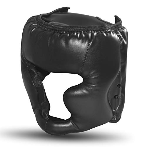 SANJOIN Boxing Helmet Closed Type Boxing Head Guard Sparring MMA Muay Thai Kick Brace Head Protection