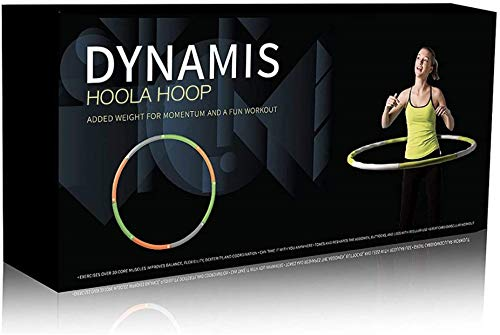 Dynamis Fat Burning Weighted Hoola Hoop - Premium Exercise Fitness Tool for Adults - Burn Calories While Strengthening Abdominals and Core(3.6 pounds)