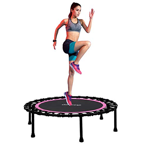 Newan 40' Silent Mini Trampoline Fitness Trampoline Bungee Rebounder Jumping Cardio Trainer Workout for Adults - Max Limit 330 lbs